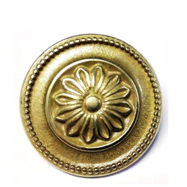 Decorative Shroud Round flower Ottone Lucido