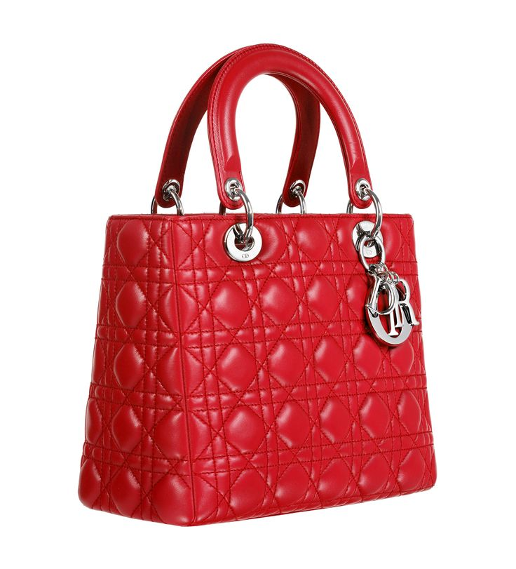 Dior Lady Dior bag in bright red leather