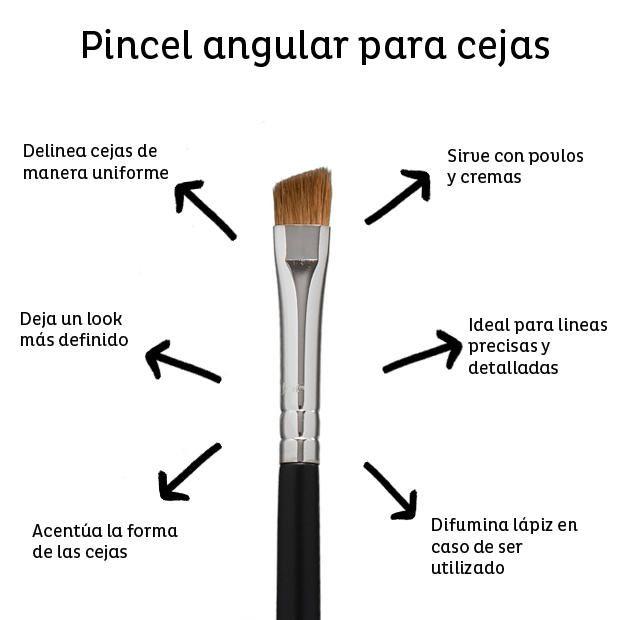Usa este pincel para remarcar tus cejas.