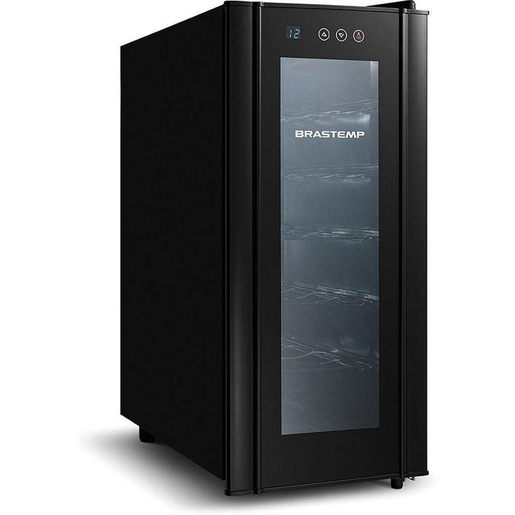 Adega Climatizada Brastemp Wine Cooler BZC12 All Black 12 Garrafas