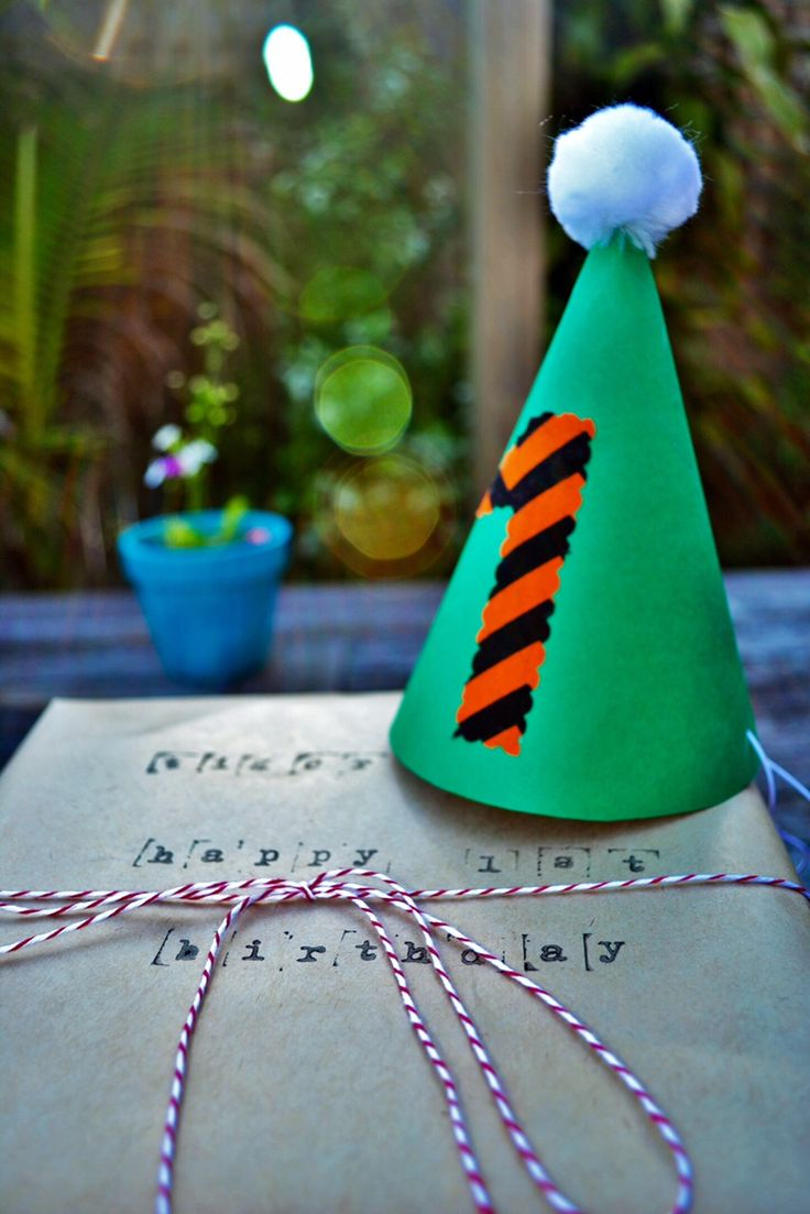 Paper hat and fabric number
