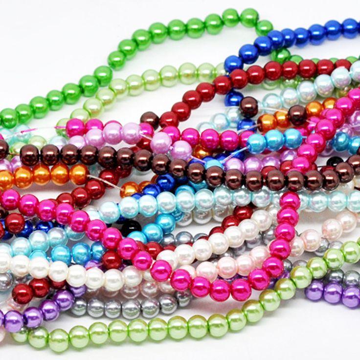 2175 Glaswachsperlen 6mm (15 Stränge 82cm) Farbenmix Kugel Wachsperlen | Glaswachsperlen | Perlen |  günstig kaufen bei Bacabella.com | Perlen, Schmuck und Schmuckzubehör zum Schmuck selber machen | Schmuck basteln DIY DoItYourself | ganz individuell und einfach | Schmuckperlen