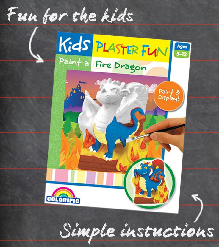 #Painting this plaster dragon will keep your kids entertained for hours.#Kids #Craft #Easter #DIY