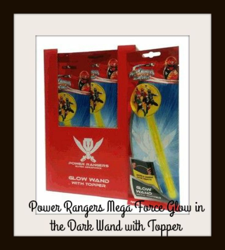 POWER RANGERS WAND - Super Mega Force Glow in the Dark Wand with Topper Kids NEW
