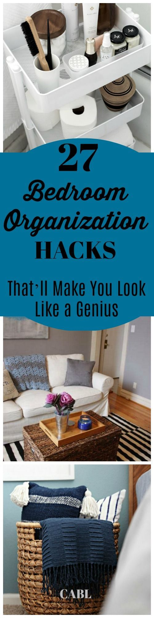27 Bedroom Organization Hacks That'll Make You Look Like a Genius #ORGANIZATION #hacks