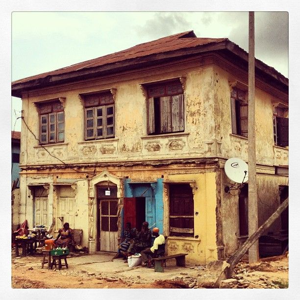 On the major streets of Abeokuta, Nigeria, many of these older, interesting, historical homes that had been hidden behind newer construction for many years are now exposed again, due to demolitions for road rehabilitation. | Flickr - Photo Sharing!