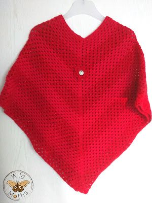 Wildmoths Handcrafted Creations: Red Poncho