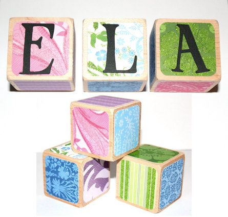 16 best personalized baby gifts images on pinterest personalized personalized name blocks baby girl customized by booksonblocks negle Gallery