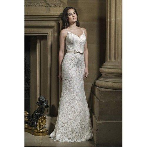 Style W438 by Alexia Bridal - Ivory  White  Champagne Lace Belt Floor Sweetheart  Straps Column Wedding Dresses - Bridesmaid Dress Online Shop http://ift.tt/2uR9Au1 #wedding