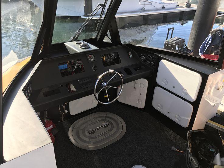 Carbon fibre boat dash wrap x2 done today along with matte black tops