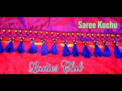 Saree Tassels I Saree Kuchu making using Beads I Latest Kucchu Designs I Gonde designs - YouTube