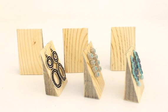 Wood Earring Displays SET, Earring Stands, Jewelry Displays, Earring Tree…