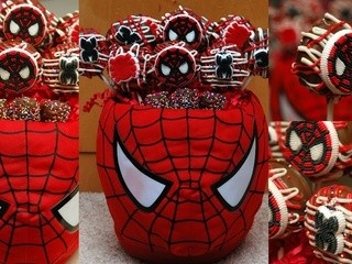 Chocolate dipped Spiderman oreo pops. This has just sooooo much potential. Basketballs, baseballs, soccer balls, smiley faces, ladybugs, bees, wreaths, the list just goes on and on and on. . . and who doesn't love an oreo????