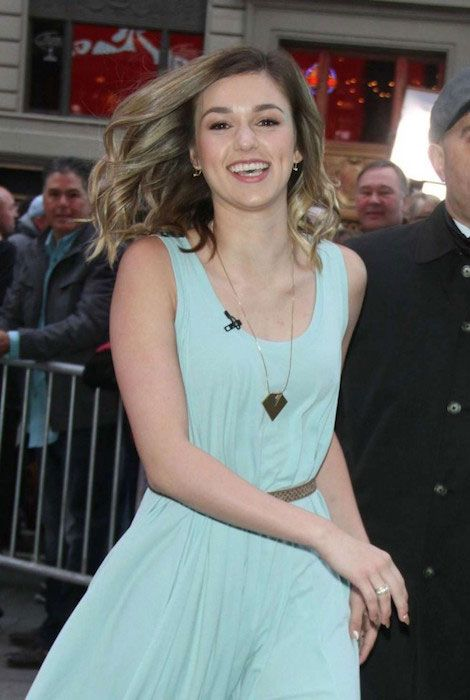 Sadie Robertson at Good Morning America in New York City in April 2015...