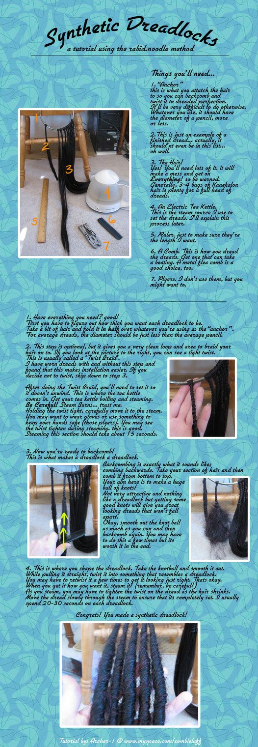 Synthetic Dreadlock Tutorial by Archer-1