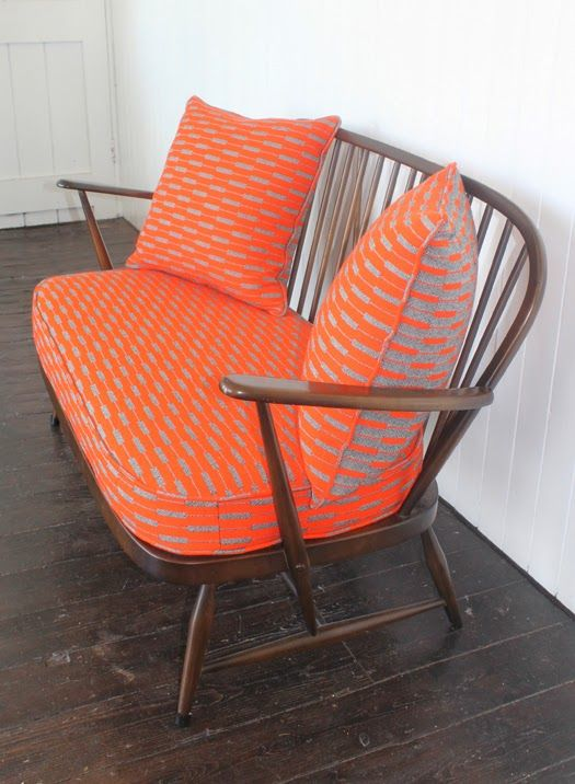 Mick Sheridan Upholstery: Ercol Suite in Eleanor Pritchard wool fabric