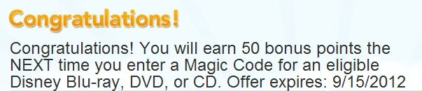 Disney Movie Rewards: 50 Point Bonus Code Offer – Hip2Save