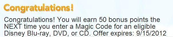 Disney Movie Rewards: 50 Point Bonus Code Offer – Hip2Save