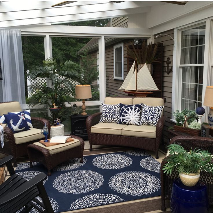 Changing Over My Green And Navy Blue Quot Spring Quot Porch To My