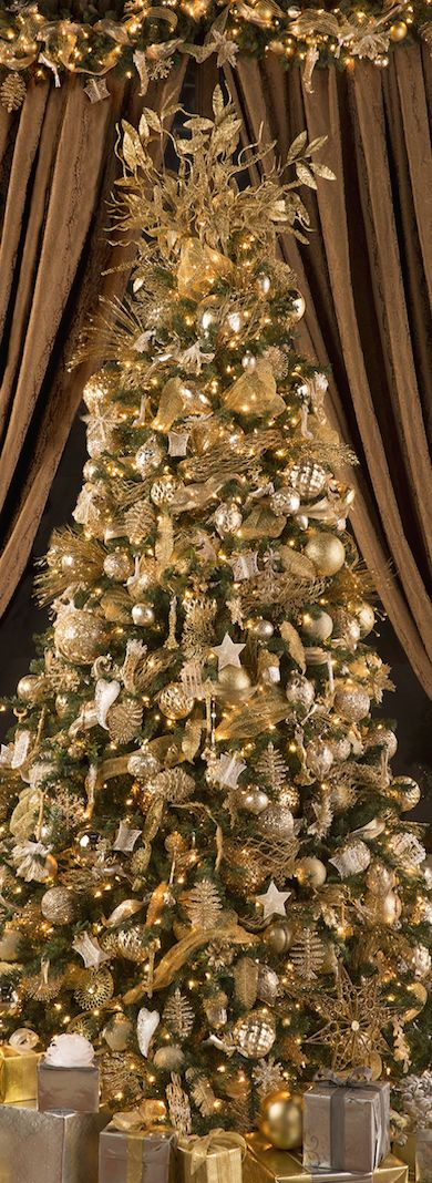 2013 raz postmark christmas decorated trees - Gold Christmas Tree