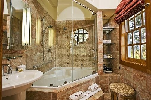 Bathroom at JUST Inn at JUSTIN Vineyards & Winery in Paso Robles, California