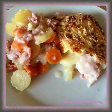 Gratin pommes de terre /carottes WW