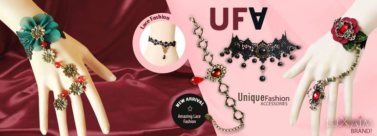 Unique collection of bracelets, anklets and necklace with easy to carry lace material.
