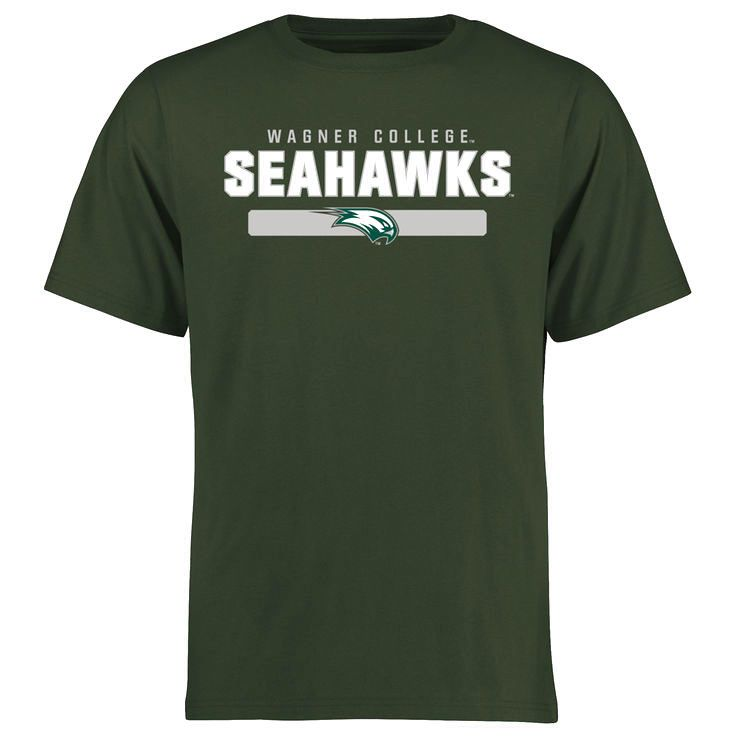 Wagner College Seahawks Team Strong T-Shirt - Green - $21.99
