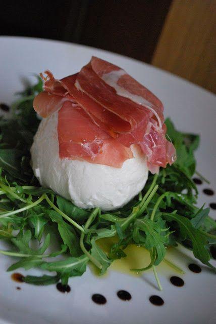 Scrumpdillyicious: Mozzarella di Bufala with Prosciutto and Wild Arug...