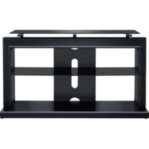 Sony Proforma 460AB 46-Inch 2-in-1 TV Base (Satin Black). Holds most flat TVs up to 46-Inch and 100 lbs. 2-in-1 design includes TV swivel mount & glass top shelf. Accommodates up to 4 Audio/Video components.