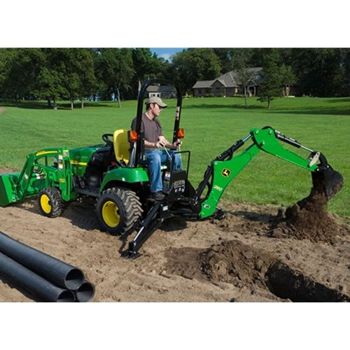 John deere 260 backhoe attachment 5200 mini diggers for Lawn and garden implements