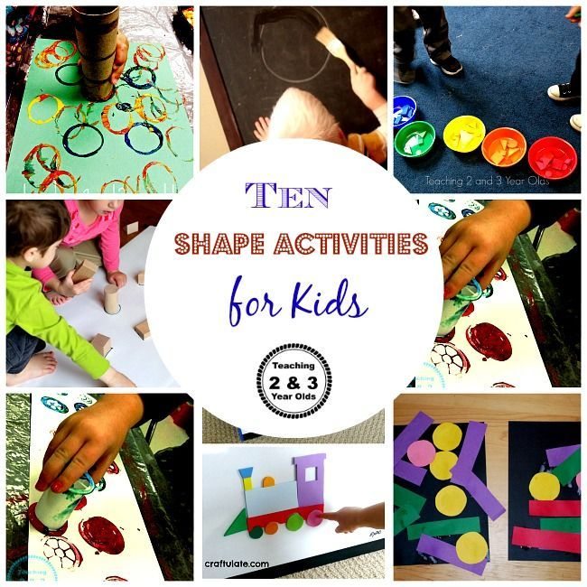 Easy Shape Activities for 2 and 3 Year Olds Activities