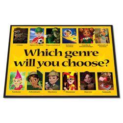 Choosing Your Genre Library Floor Mat