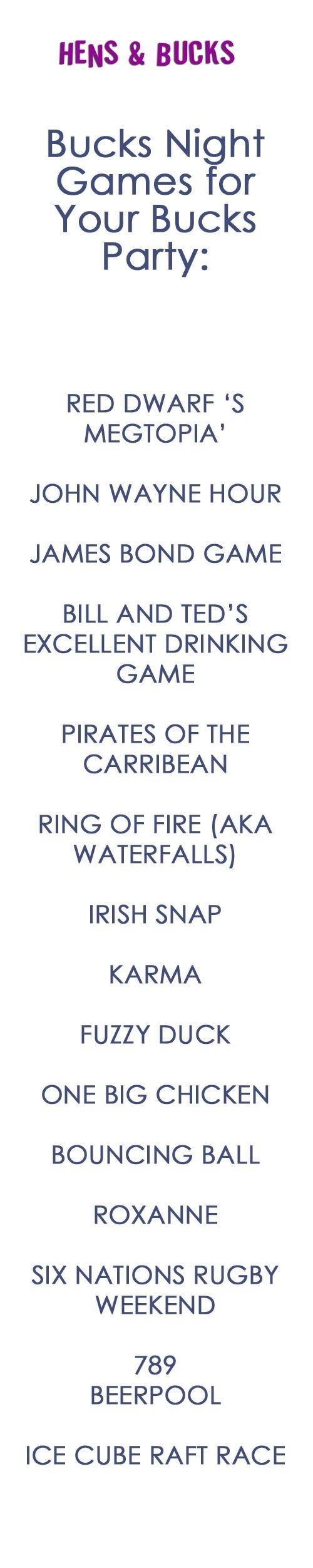 Bucks Party Games