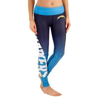 San Diego Chargers Women's Gradient Leggings – Navy Blue