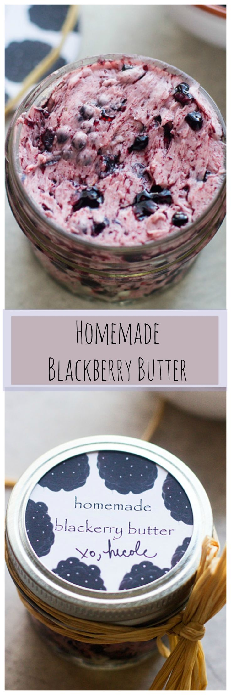 Homemade Blackberry Butter -- With super cute labels made with my Sprout by Hp!! #CIY #sproutbyhp