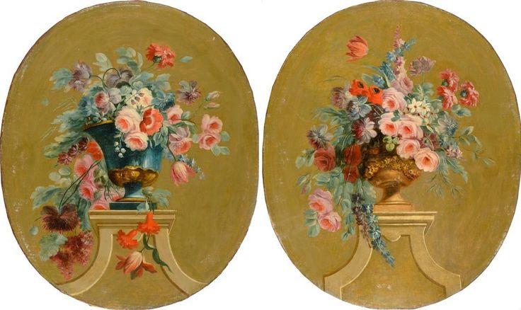 Coppia di dipinti ovali : Lot 66