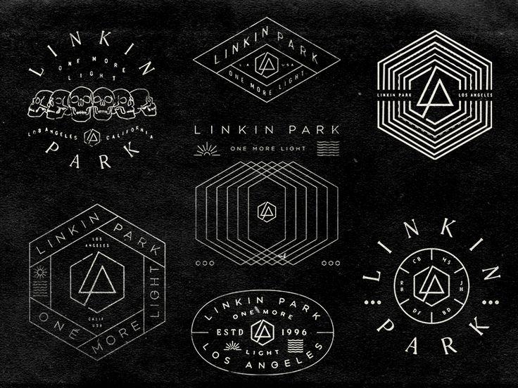 """dribbblepopular: """"Linkin Park Badges http://ift.tt/2kRysfG """""""