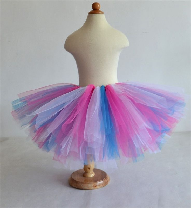 Hot Sale Fluffy 3 Layer Girls Tutu Skirts Baby Kids Tulle Skirt Ballet Rainbow Tutu Children Baby Tutus Dancing Pettiskirt 1-10T