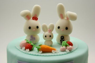 Beautiful Kitchen: Lovely Rabbit Family Cake Topper