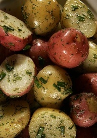 Fresh herbs add bright flavor to red and white potatoes. Would be great with your Easter meal.