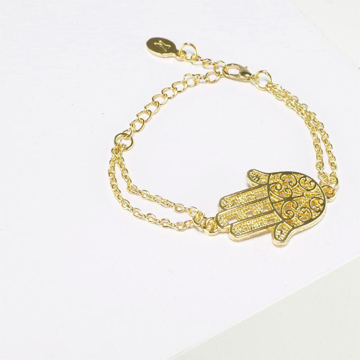 Goldenes #Armband mit Hand der #Fatima - Anhänger - aus dem #SUPR #Shop #Neatto
