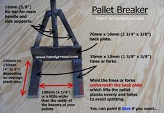 pallet buster dimensions - Google Search