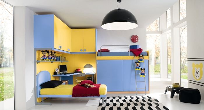 cool idea for a small bedroom (25 Cool Boys Bedroom Ideas by ZG Group | DigsDigs)