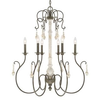 Shop for Capital Lighting Vineyard Collection 6-light French Country Chandelier. Get free shipping at Overstock.com - Your Online Home Decor Outlet Store! Get 5% in rewards with Club O!