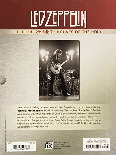 Led Zeppelin I-Houses of the Holy (Boxed Set) Platinum Guitar: Authentic Guitar TAB, Book (Boxed Set