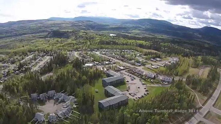 Flying above Tumbler Ridge, BC - DJI Phantom 2 Vision Plus