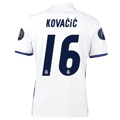 Real Madrid Home UEFA Champions League Shirt 2016-17 - Kids with Kovac: with Kovacic 16 printing #RealMadridShop #RealMadridStore
