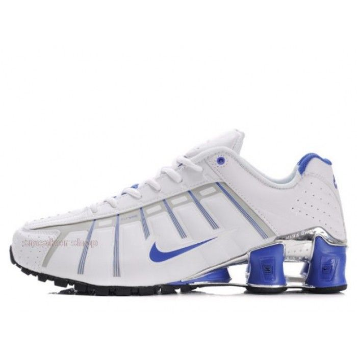 Mens Nike Shox NZ 3 OLeven White Blue Black, cheap Mens Nike Shox OLeven,  If you want to look Mens Nike Shox NZ 3 OLeven White Blue Black, you can  view the ...