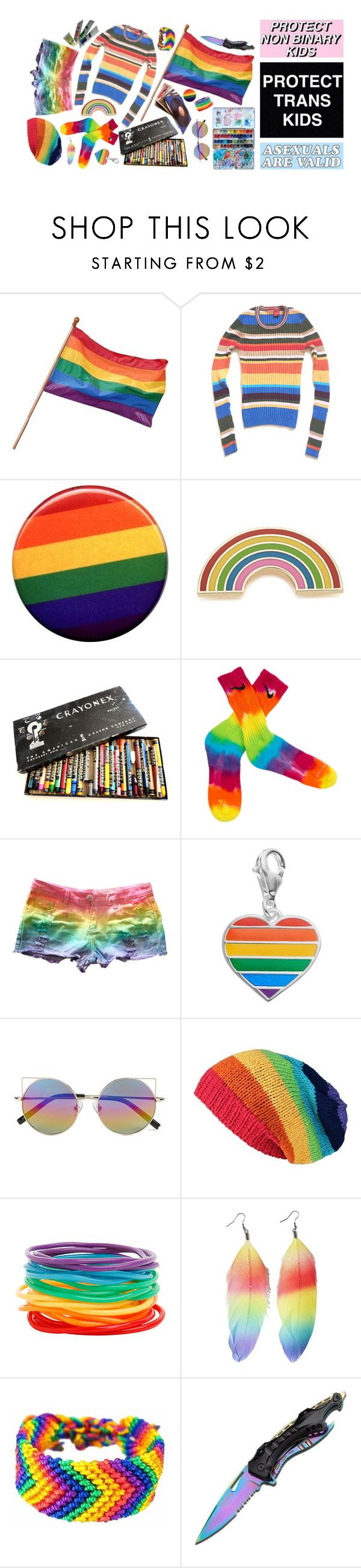 """""""lgbt+"""" by peachcarnage ❤ liked on Polyvore featuring Georgia Perry, Personal Charm, Linda Farrow, CO and Handle"""